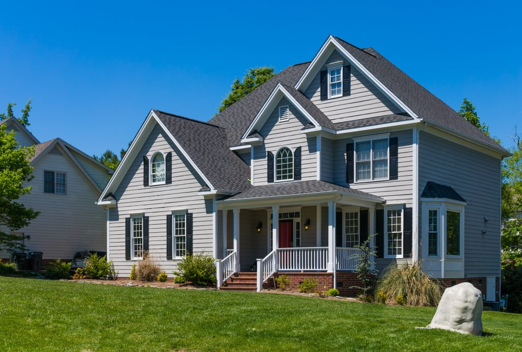 Upscale house with vinyl siding