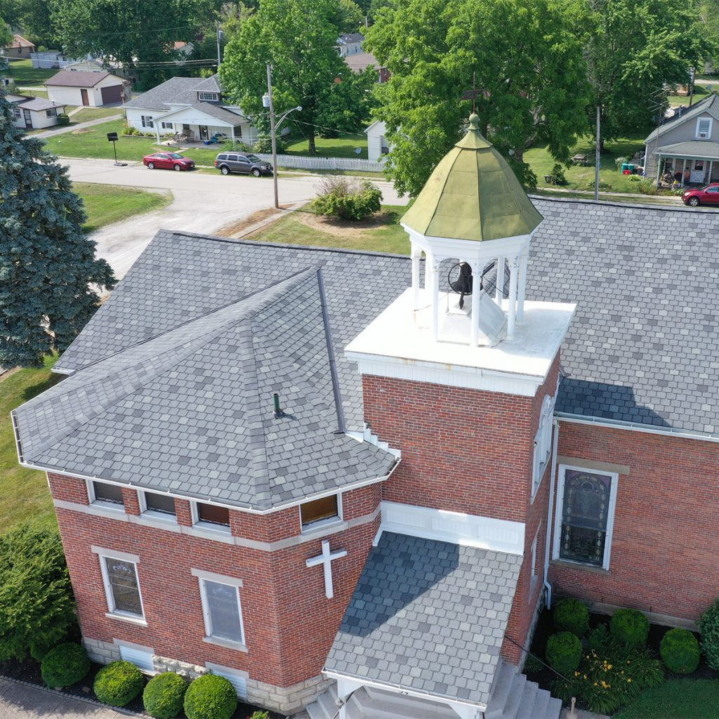 ZCI commercial roof replacement on a church